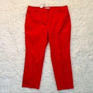 NWT NY&Co Red Straight Leg Ankle Pants - B